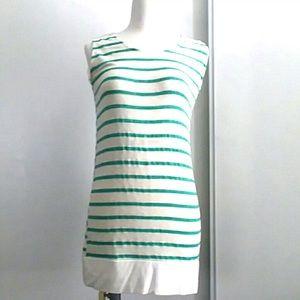Chris&Carol Green stripe blouse